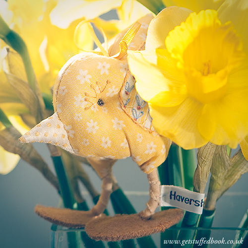 An Easter Chick with Daffodils