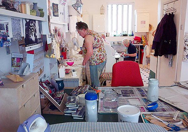 A Get Plastered workshop in progress at my studio in Darlington.