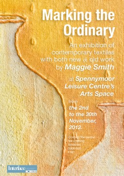 A flyer for my contemporary textiles exhibition