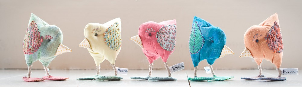 "Stuffed fabric ""Dandy Birds"" by Maggie Smith for ""Stitch"" Magazine issue 81"
